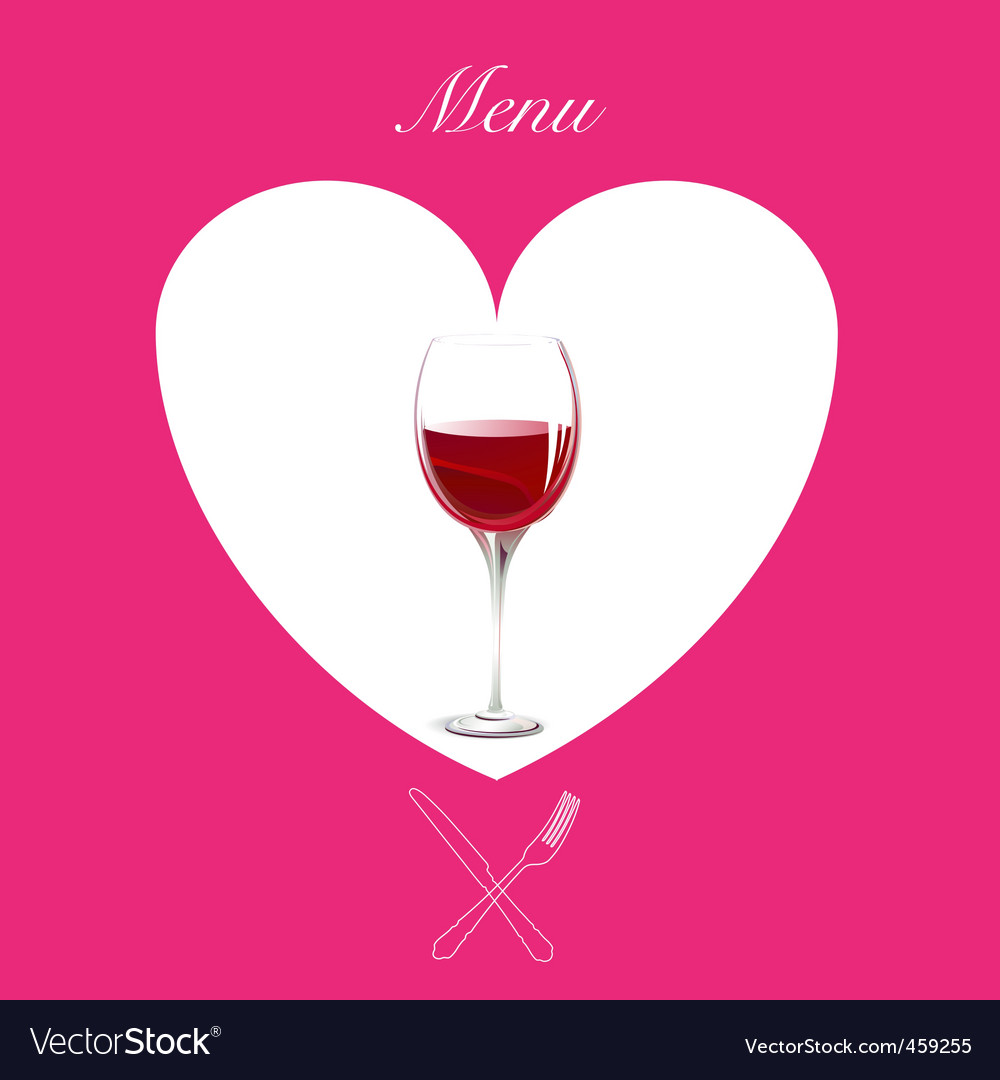 Wine menu cover vector | Price: 1 Credit (USD $1)