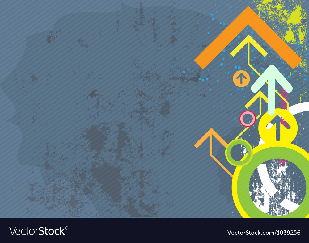 Abstract arrow design on grunge background vector | Price: 1 Credit (USD $1)