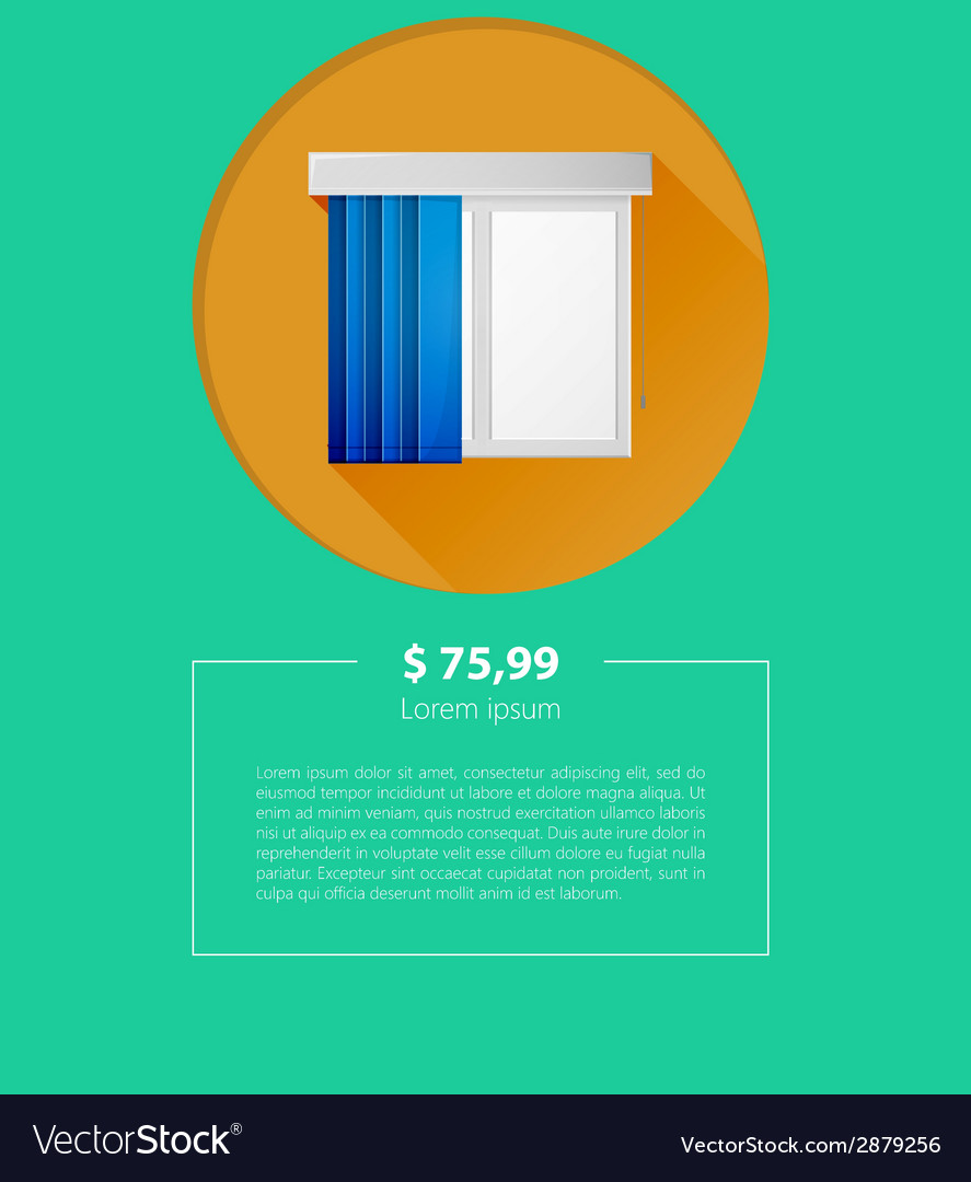 Ad layout for window louvers vector | Price: 1 Credit (USD $1)