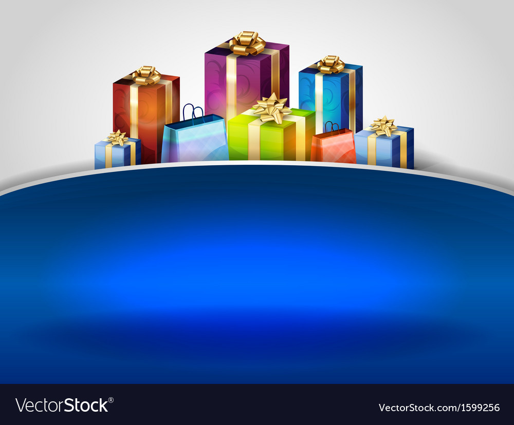 Christmas background hill blue vector | Price: 1 Credit (USD $1)