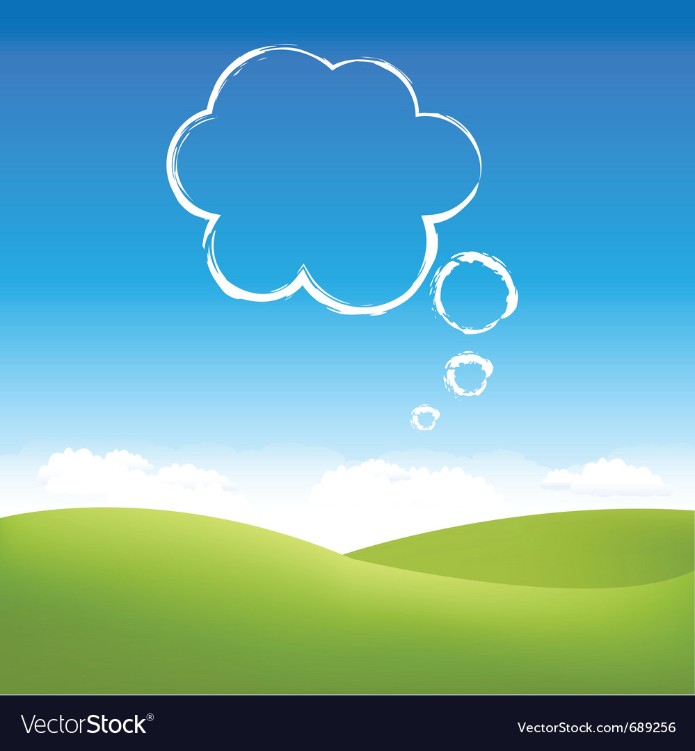 Cloud fields vector | Price: 1 Credit (USD $1)