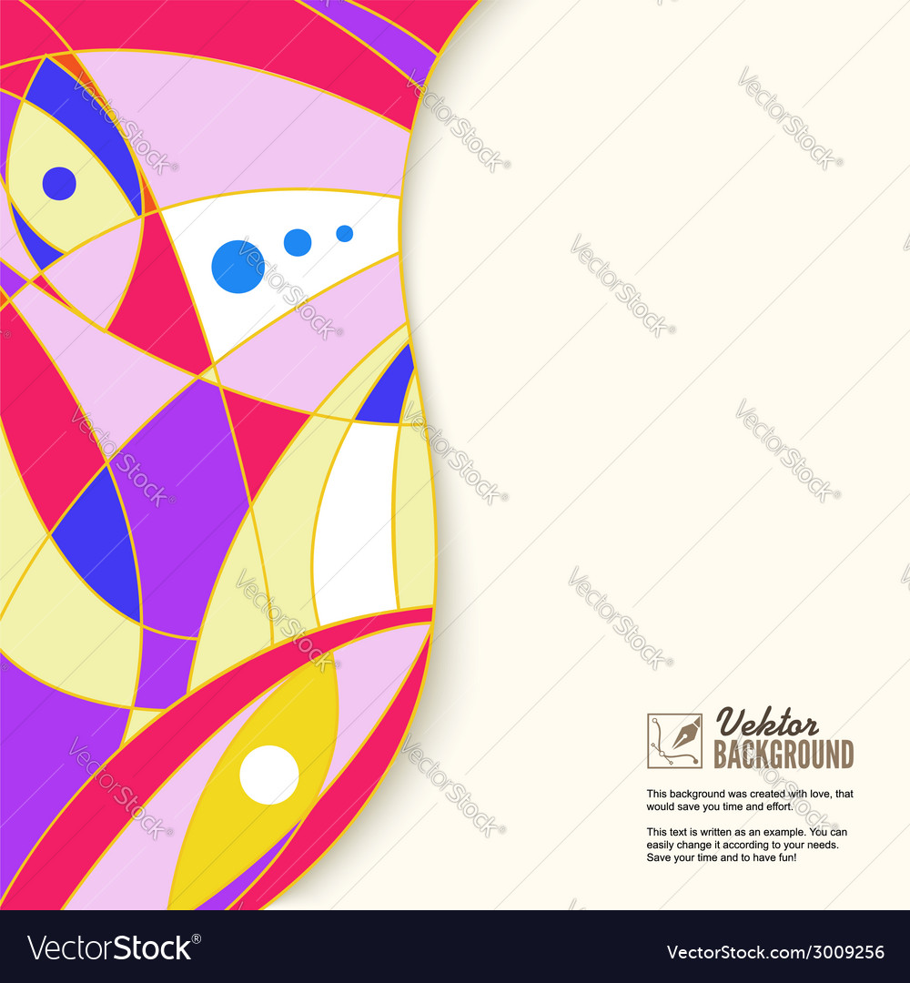 Colorful abstract geometric background with place vector | Price: 1 Credit (USD $1)