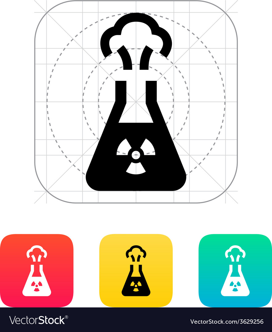 Flask with radiation icon vector | Price: 1 Credit (USD $1)
