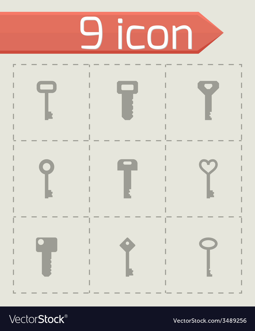 Key icon set vector   Price: 1 Credit (USD $1)