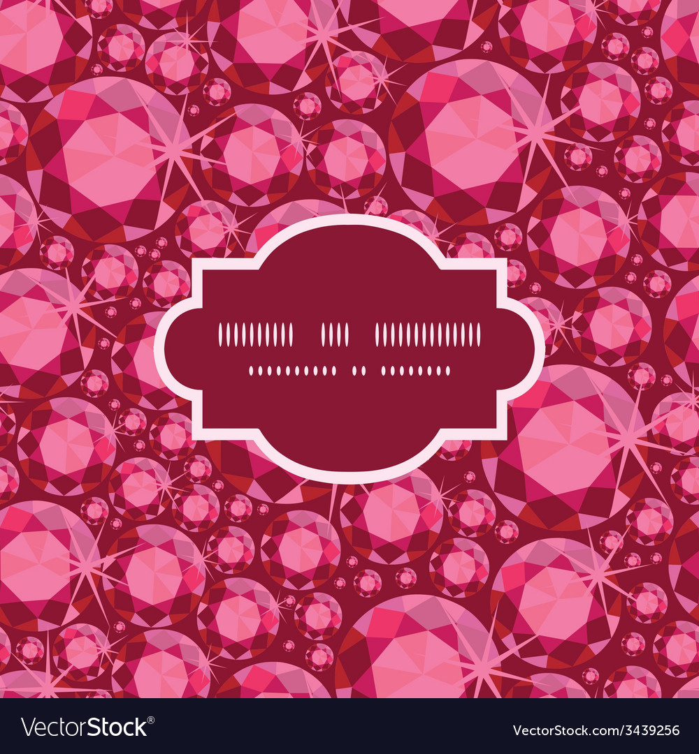 Ruby frame seamless pattern background vector | Price: 1 Credit (USD $1)