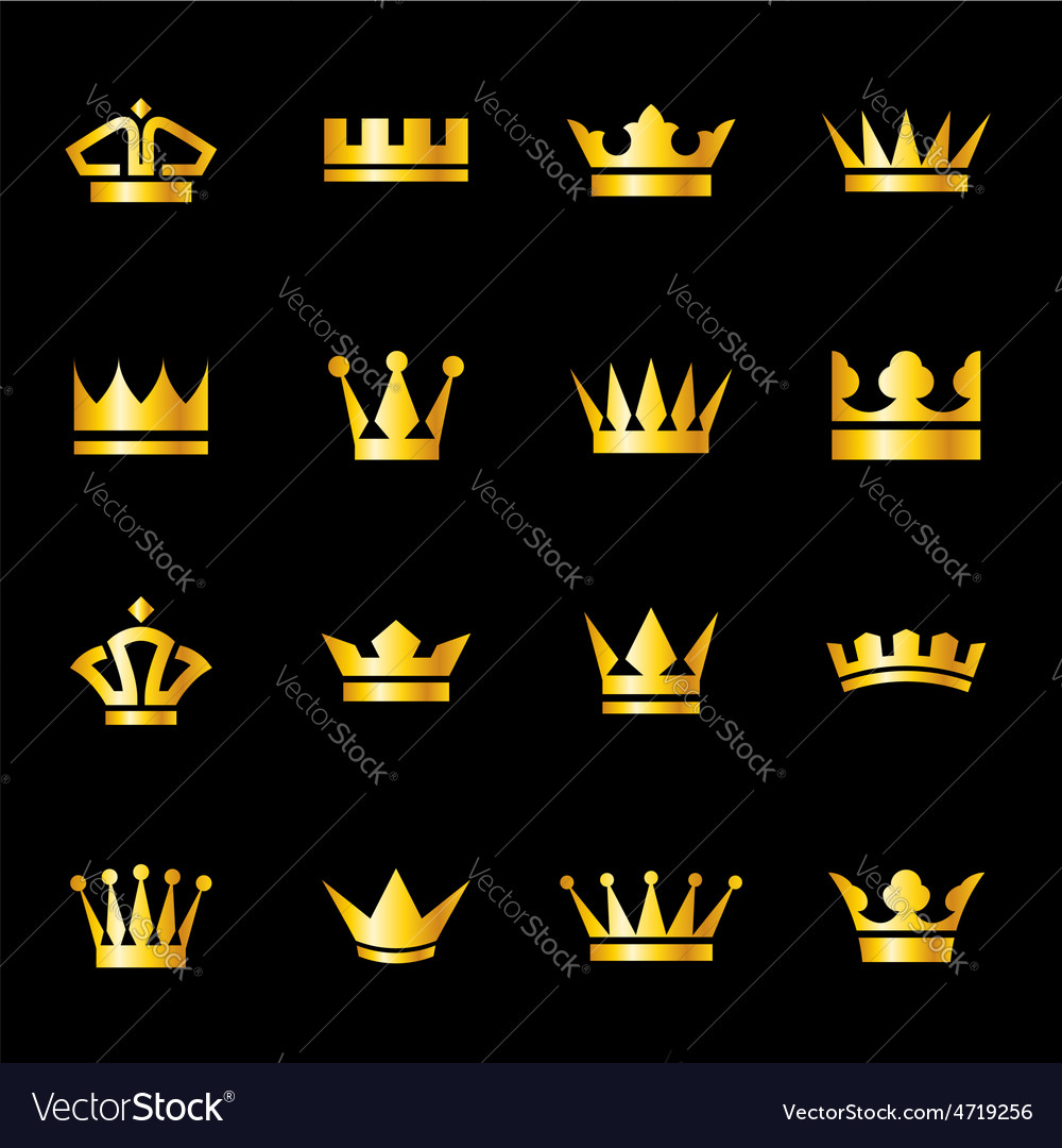 Set of icons crowns vector | Price: 1 Credit (USD $1)
