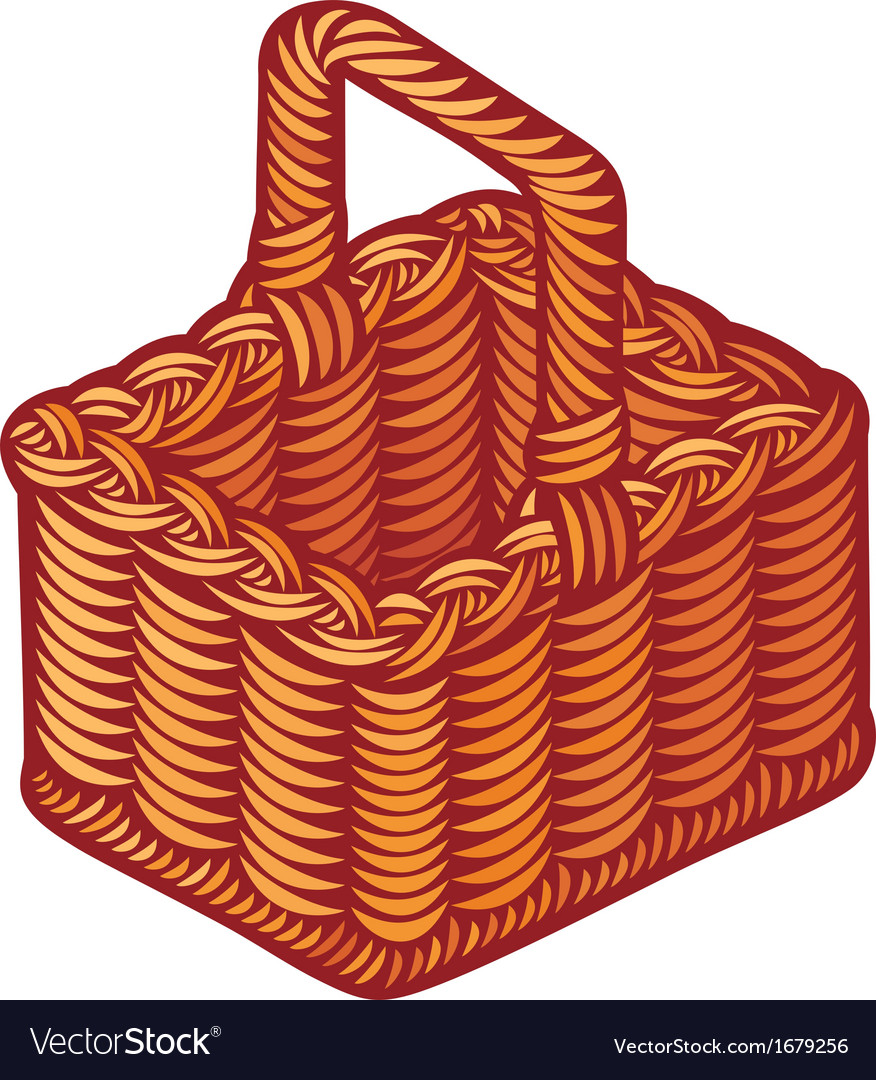 Wicker basket vector | Price: 1 Credit (USD $1)