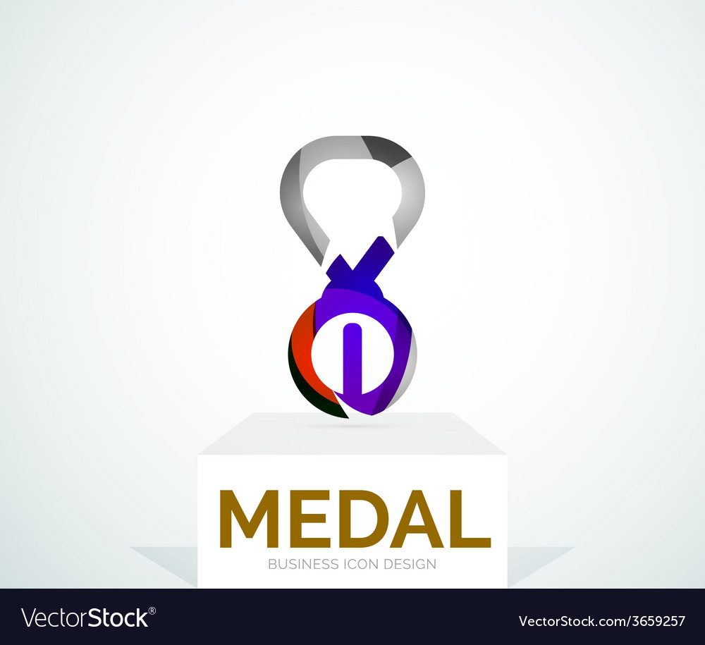 Abstract colorful logo design medal vector   Price: 1 Credit (USD $1)