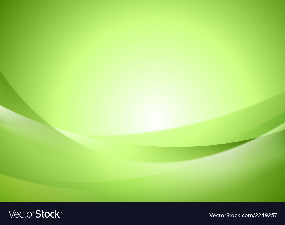 Bright green shiny waves vector | Price: 1 Credit (USD $1)