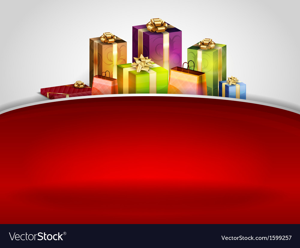 Christmas background hill red vector | Price: 1 Credit (USD $1)