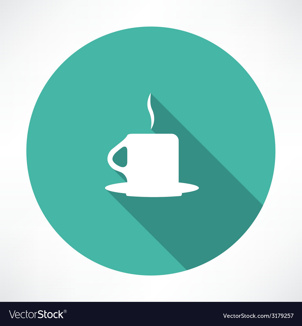 Hot cup icon vector | Price: 1 Credit (USD $1)