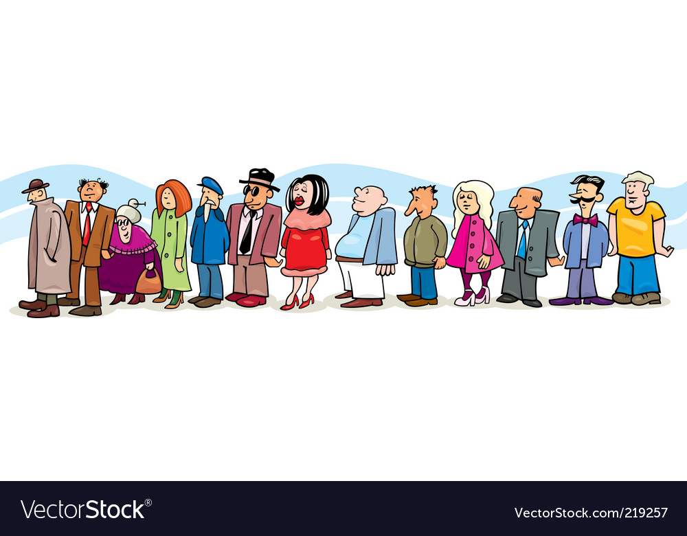 People in queue vector | Price: 1 Credit (USD $1)
