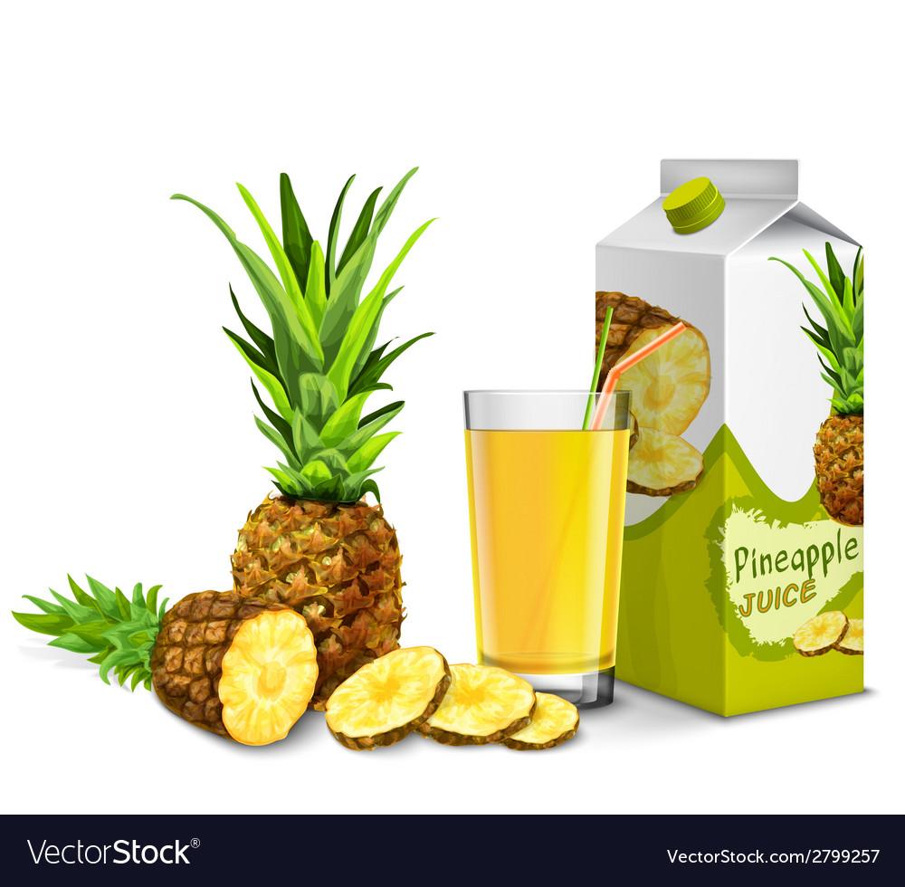 Pineapple juice set vector | Price: 1 Credit (USD $1)