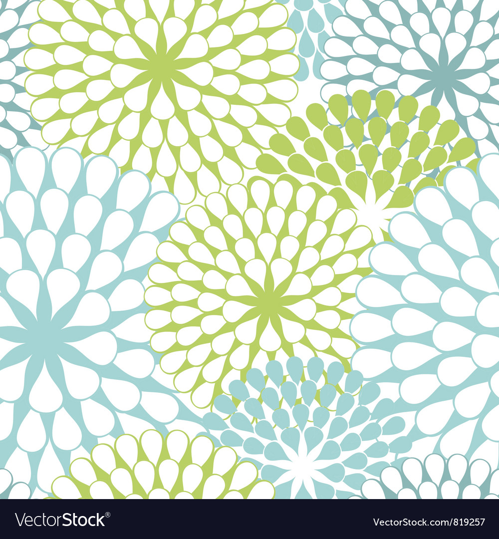 Seamless texture of flowers vector | Price: 1 Credit (USD $1)