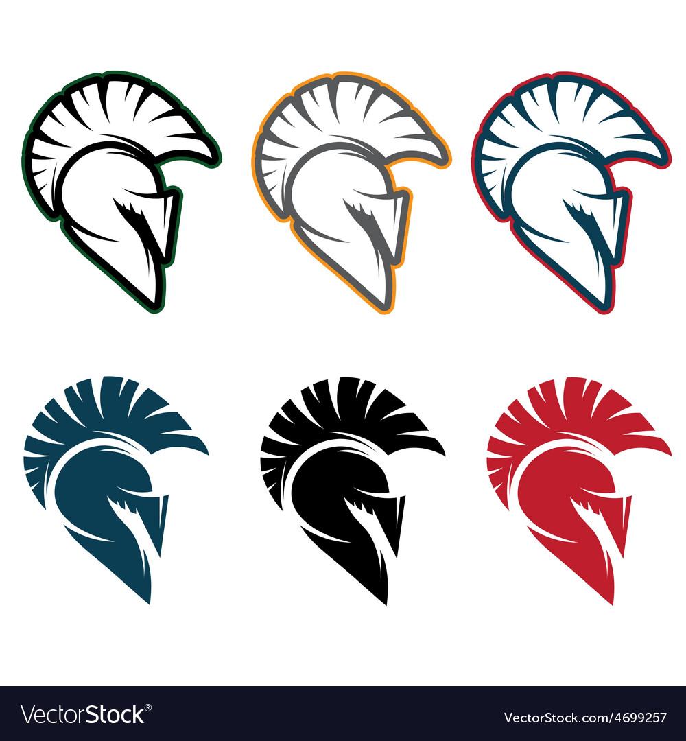 Spartan warrior set design template vector | Price: 1 Credit (USD $1)