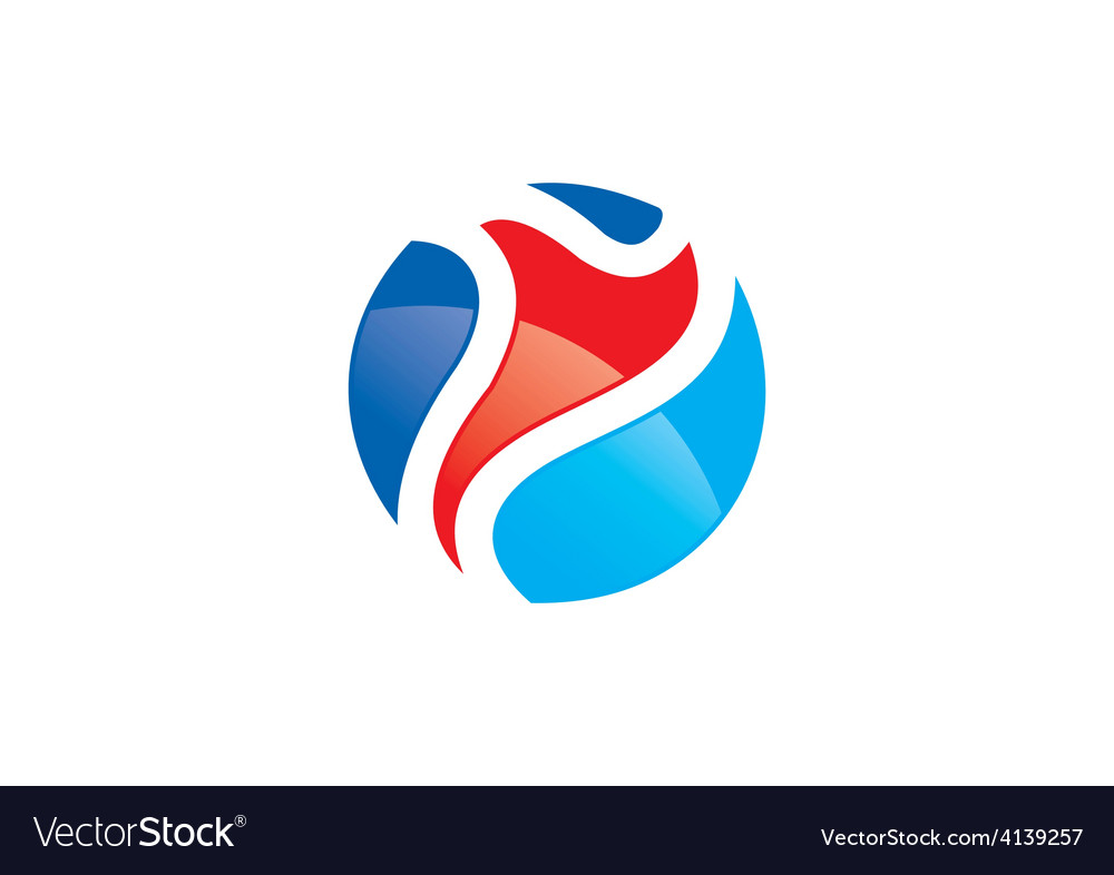 Sport man abstract color logo vector | Price: 1 Credit (USD $1)