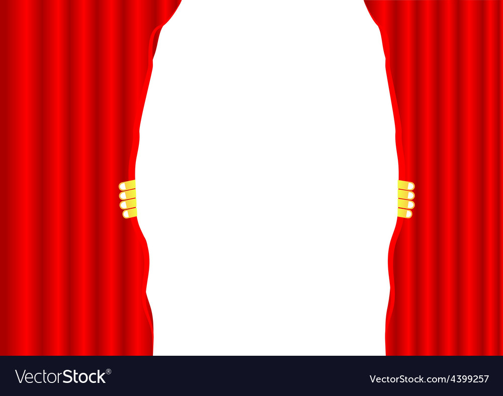 Theater curtain background vector | Price: 3 Credit (USD $3)
