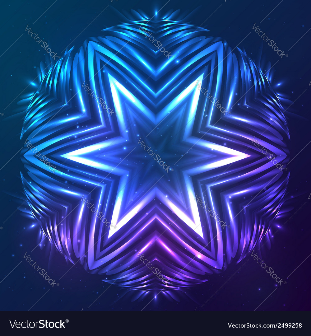 Abstract shining cosmic star vector | Price: 1 Credit (USD $1)