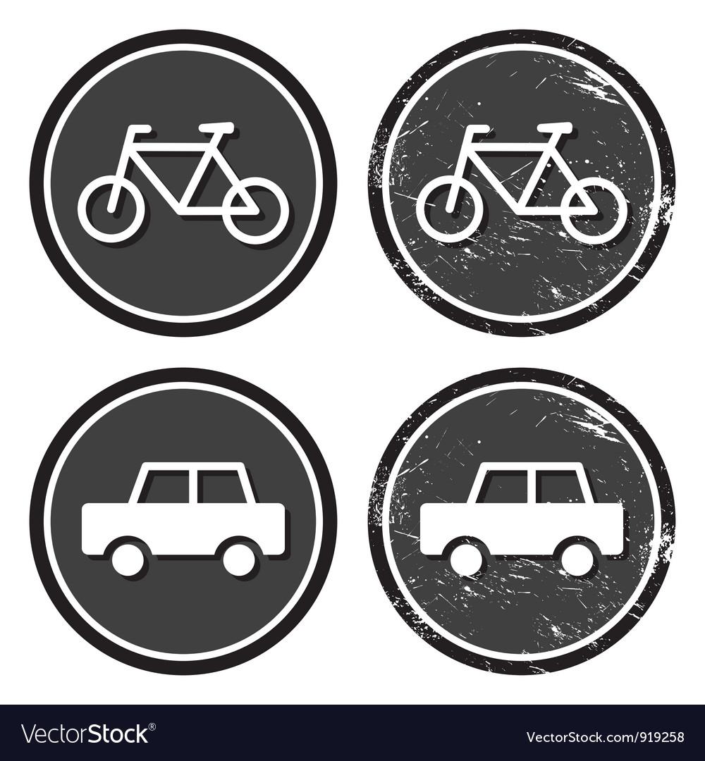 Bike and retro label vector | Price: 1 Credit (USD $1)
