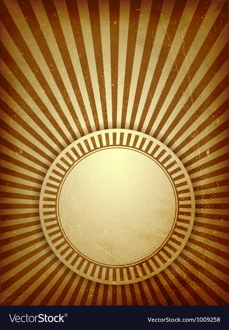 Brown grunge light rays background vector | Price: 1 Credit (USD $1)