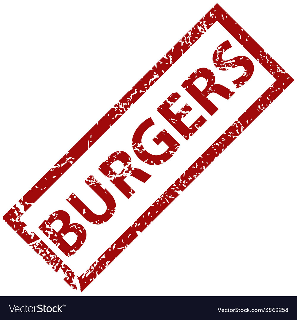 Burgers rubber stamp vector | Price: 1 Credit (USD $1)