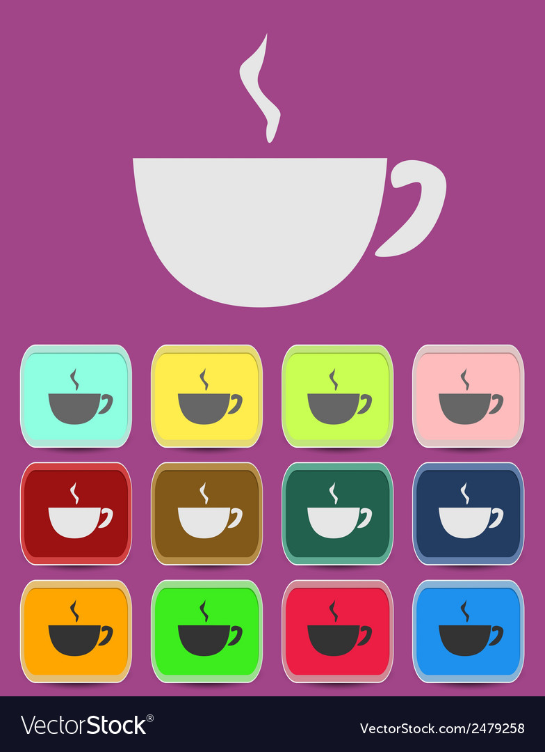 Cup mug of hot drink coffee tea etc vector | Price: 1 Credit (USD $1)