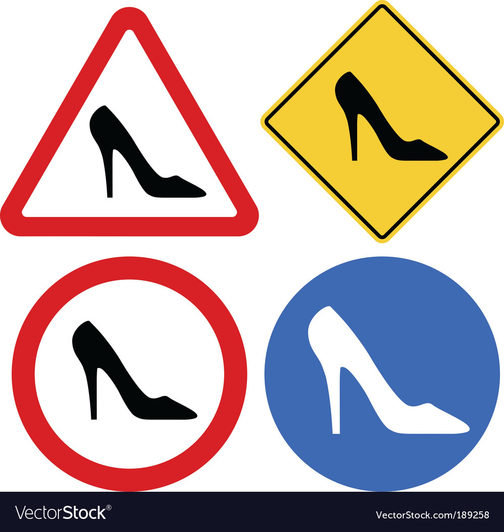 Female shoe signs vector | Price: 1 Credit (USD $1)