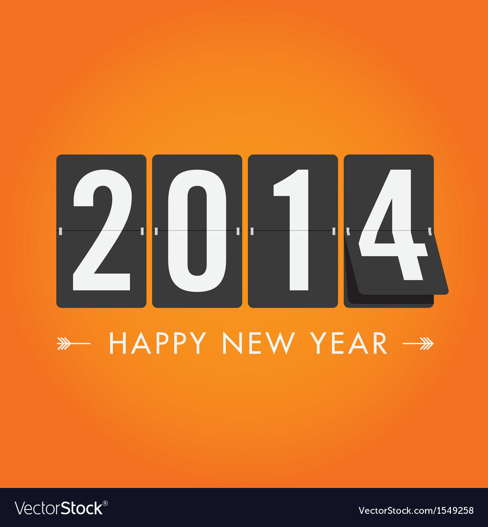 Happy new year 2014 card vector | Price: 1 Credit (USD $1)