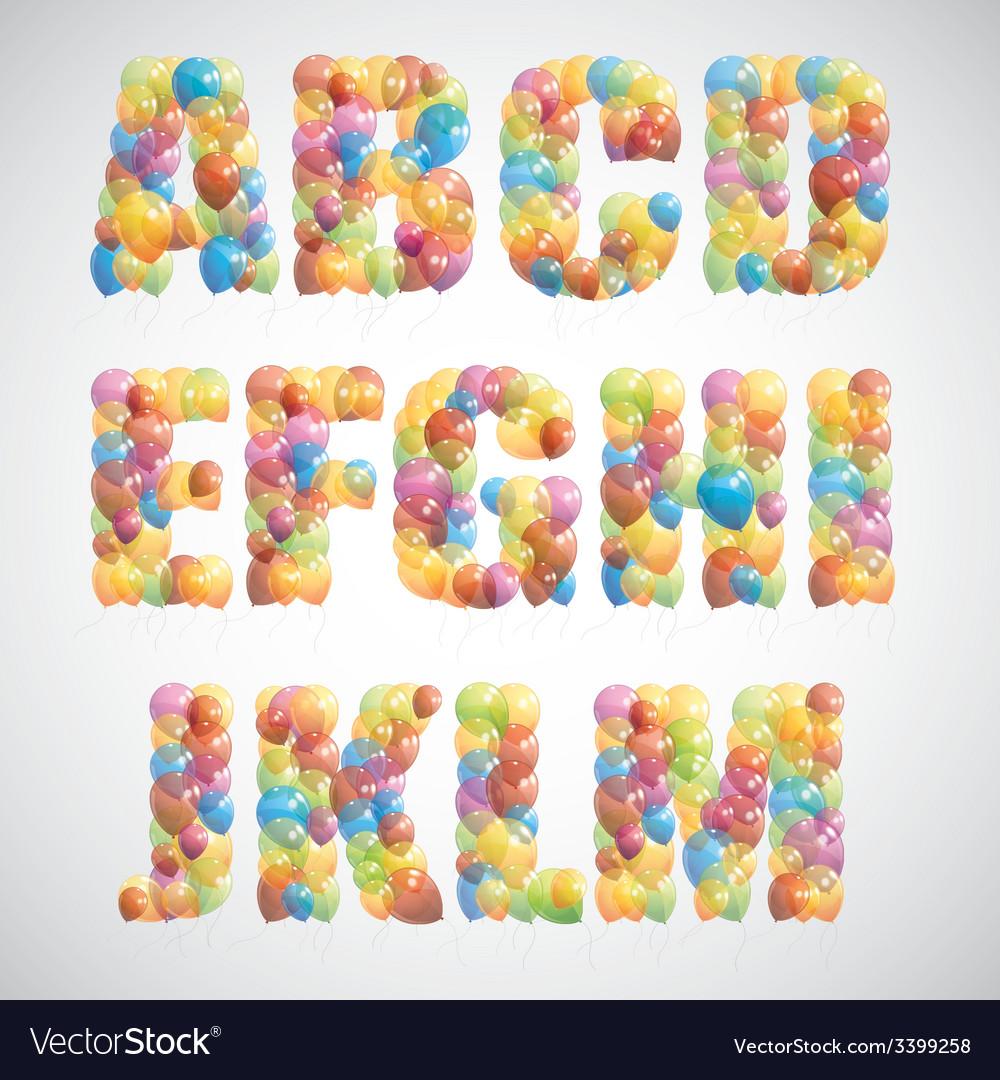 Multicolored balloon alphabet vector | Price: 1 Credit (USD $1)