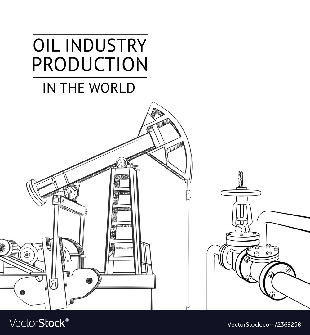 Oil industry objects vector | Price: 1 Credit (USD $1)