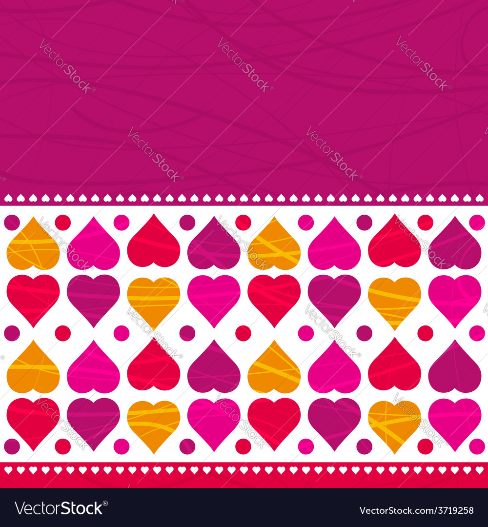 Pink valentines background with hearts vector | Price: 1 Credit (USD $1)