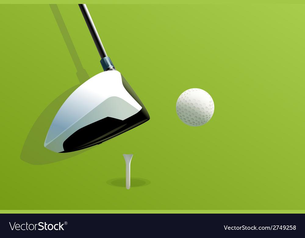 Putting golf vector | Price: 1 Credit (USD $1)