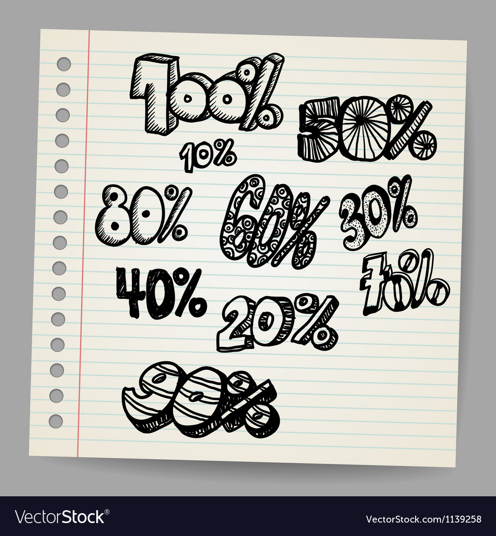 Scribble percents vector | Price: 1 Credit (USD $1)