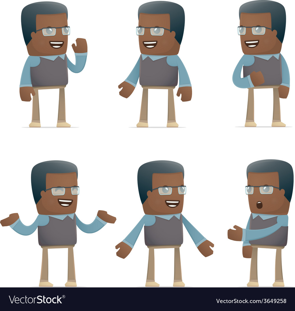 Set of teacher character in different poses vector | Price: 3 Credit (USD $3)