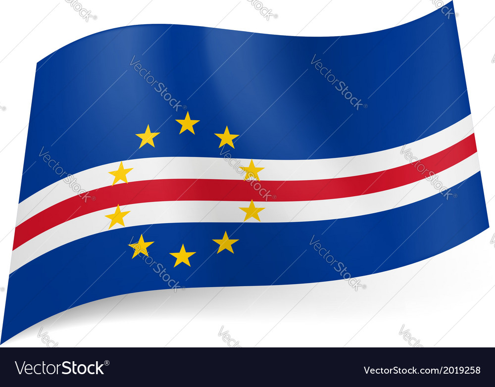 State flag of cape verde vector | Price: 1 Credit (USD $1)