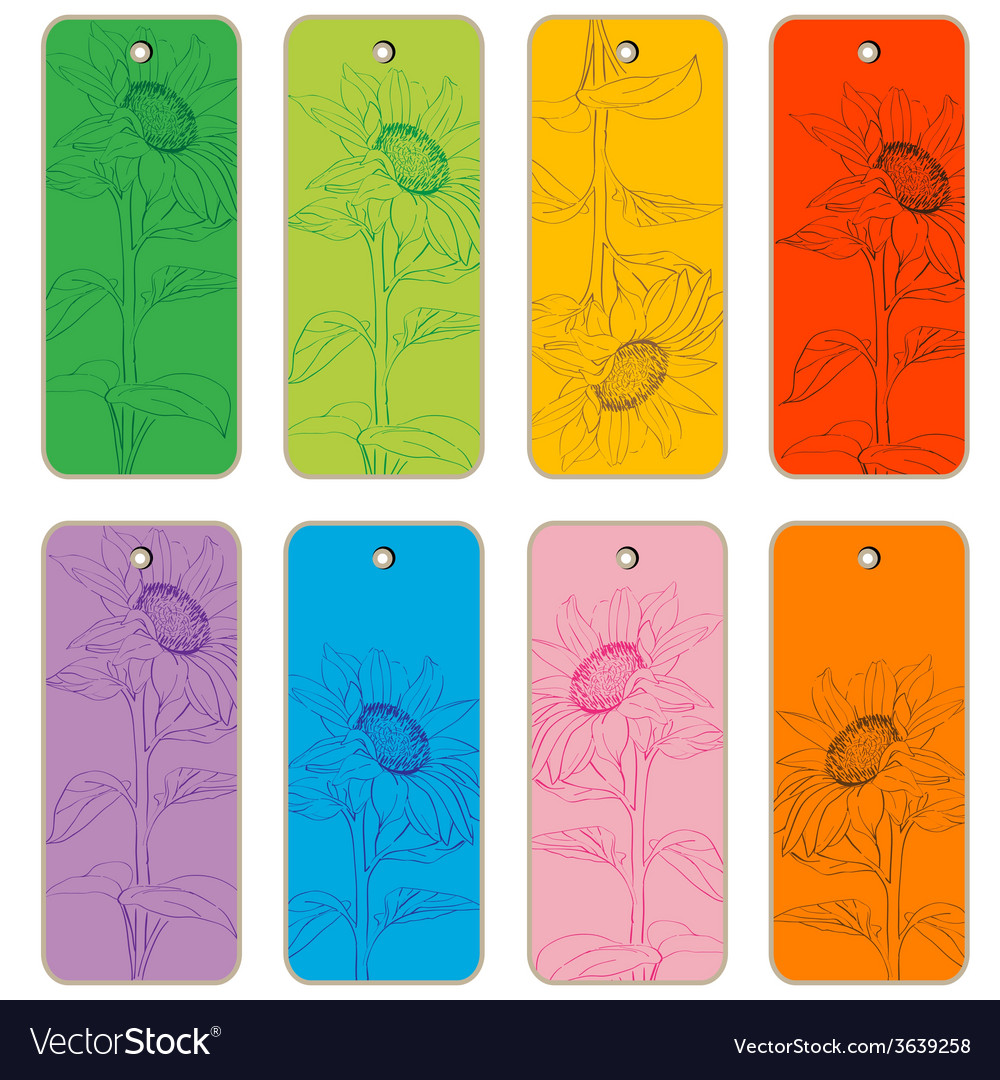 Sun flower price tags vector | Price: 1 Credit (USD $1)