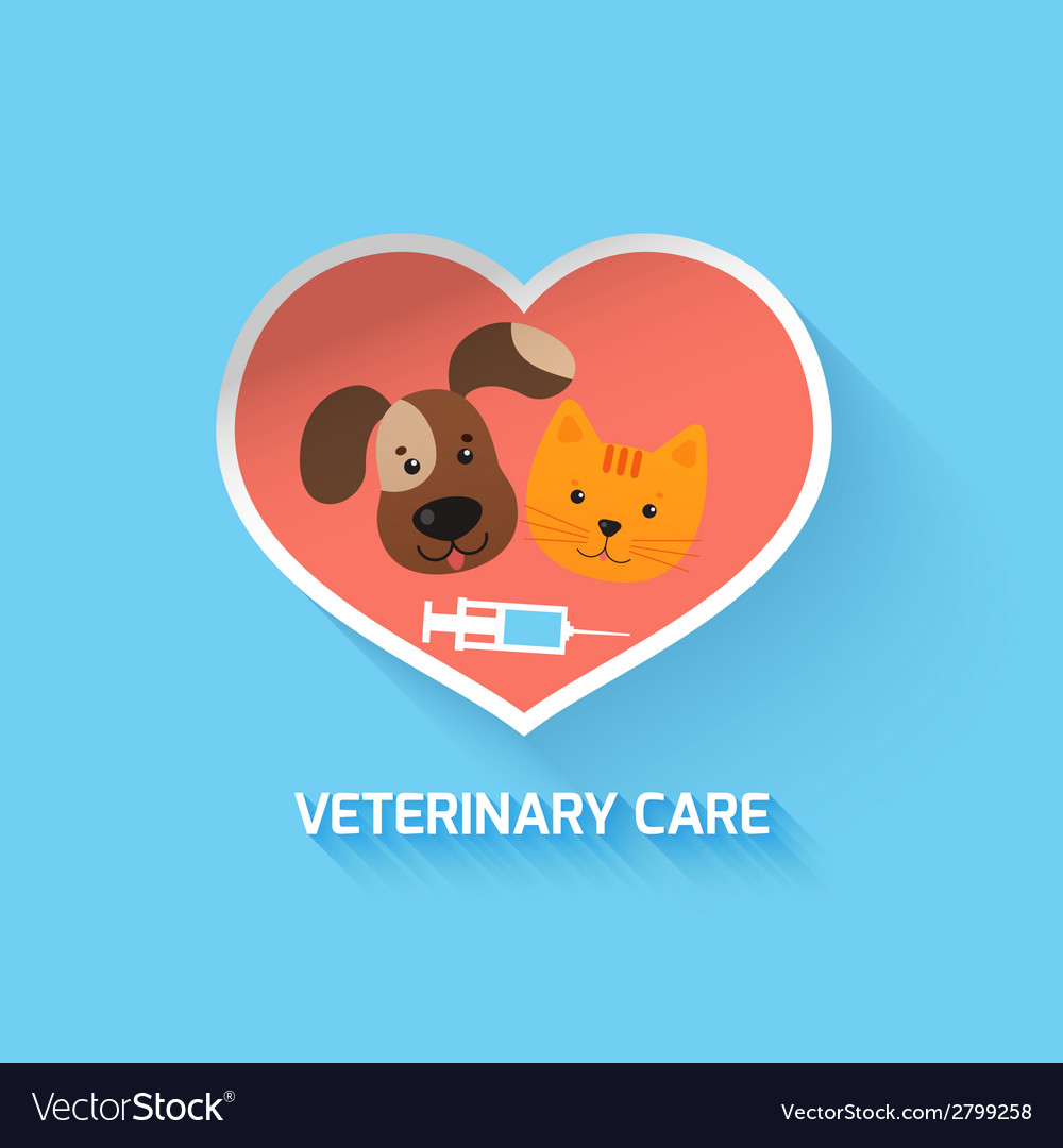 Veterinary heart symbol vector | Price: 1 Credit (USD $1)