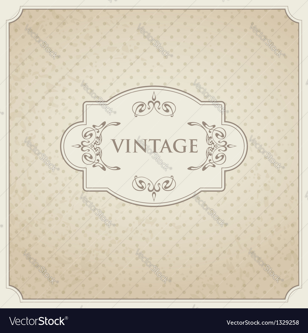 Vintage card design vector | Price: 1 Credit (USD $1)