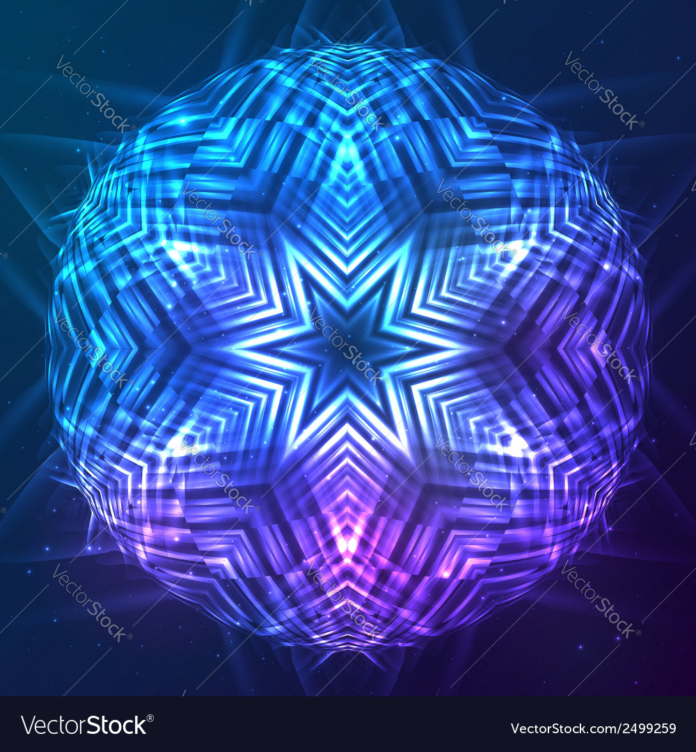 Abstract shining cosmic sphere vector | Price: 1 Credit (USD $1)