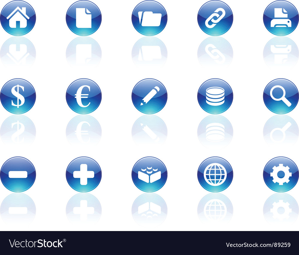 Aqua icons vector | Price: 1 Credit (USD $1)