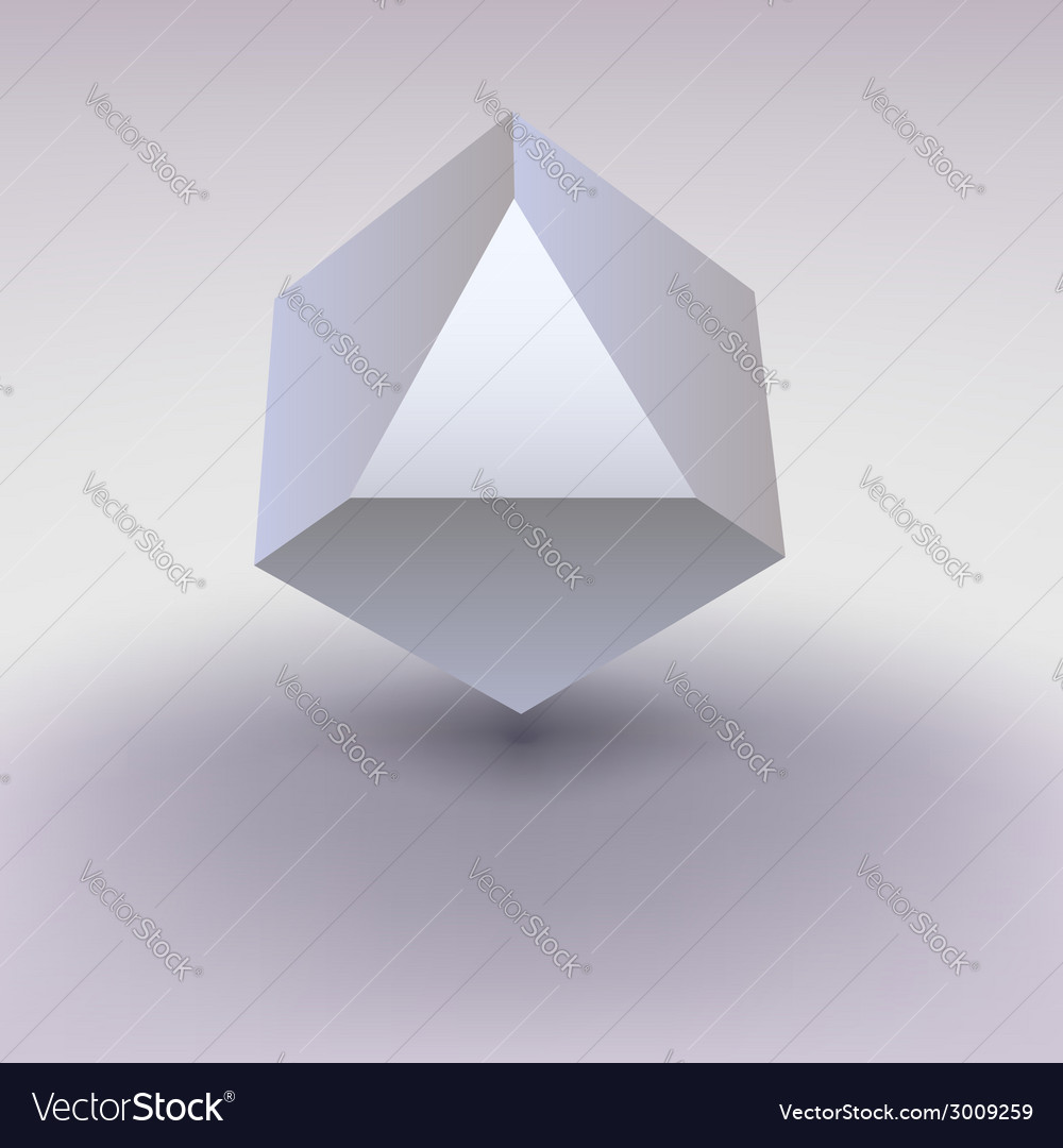 Cube with cropped center place for text vector | Price: 1 Credit (USD $1)