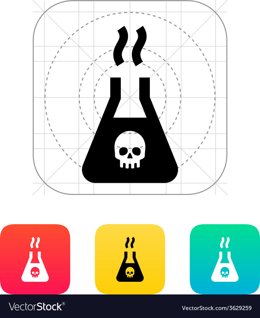 Dangerous substance icon vector | Price: 1 Credit (USD $1)