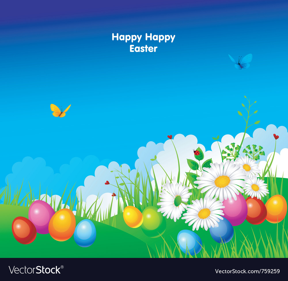 Easter template vector | Price: 3 Credit (USD $3)
