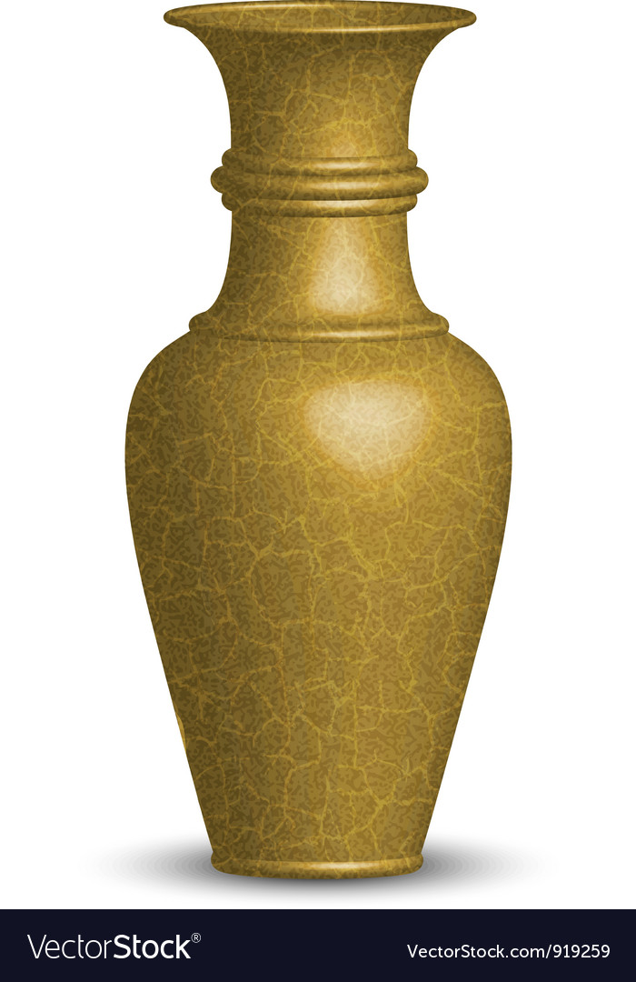 Golden vase vector | Price: 1 Credit (USD $1)