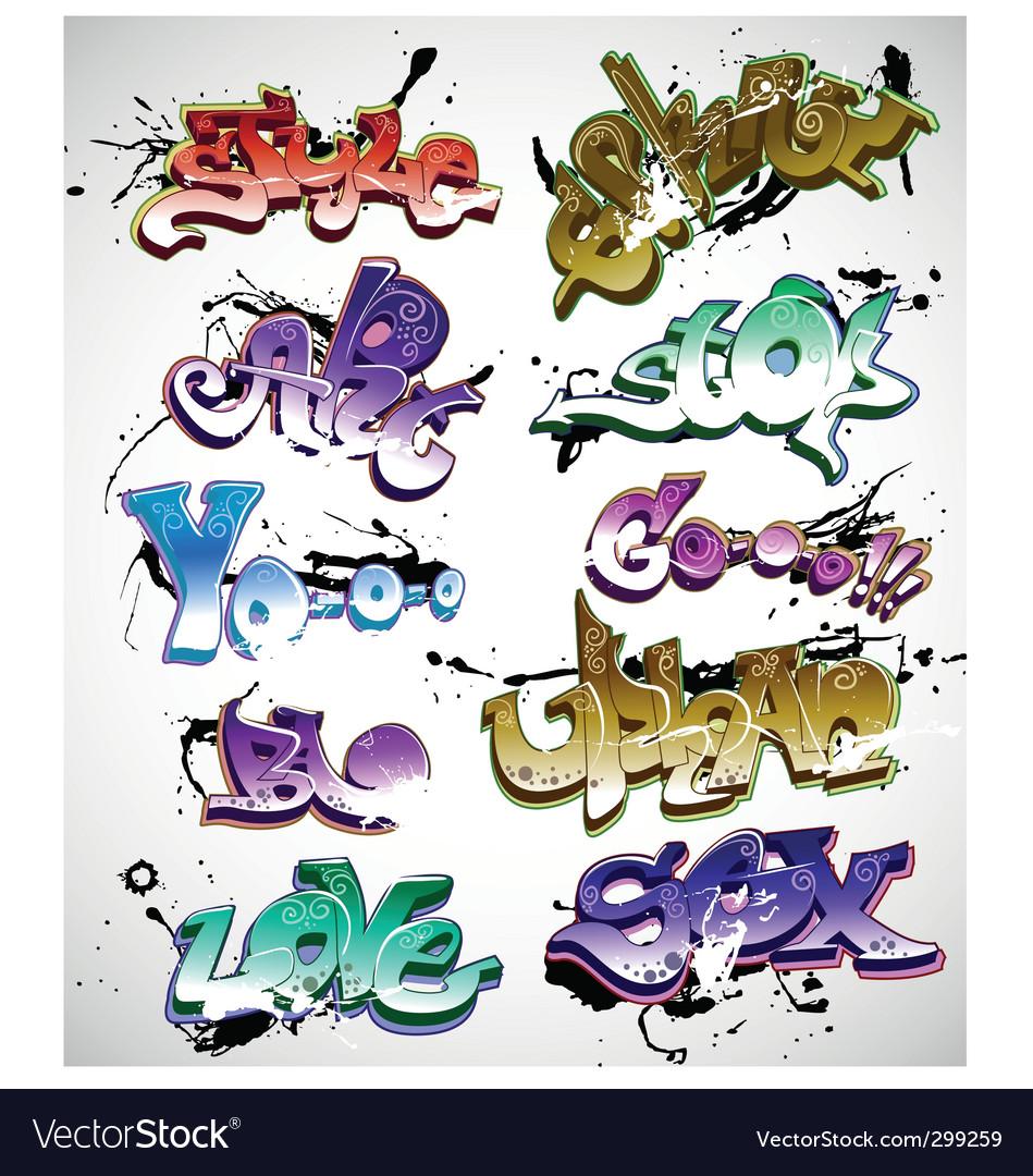 Graffiti design vector | Price: 1 Credit (USD $1)