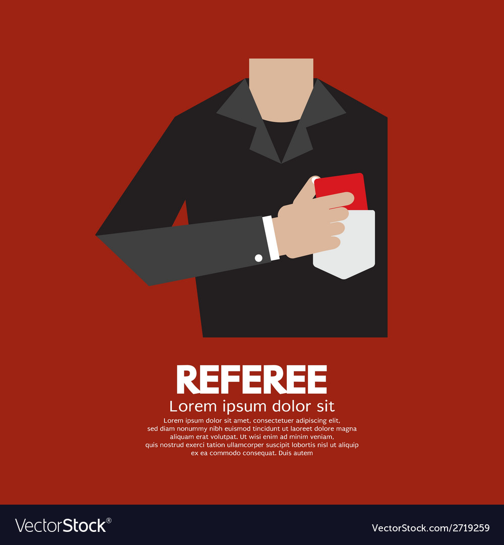 Referee with red card vector | Price: 1 Credit (USD $1)