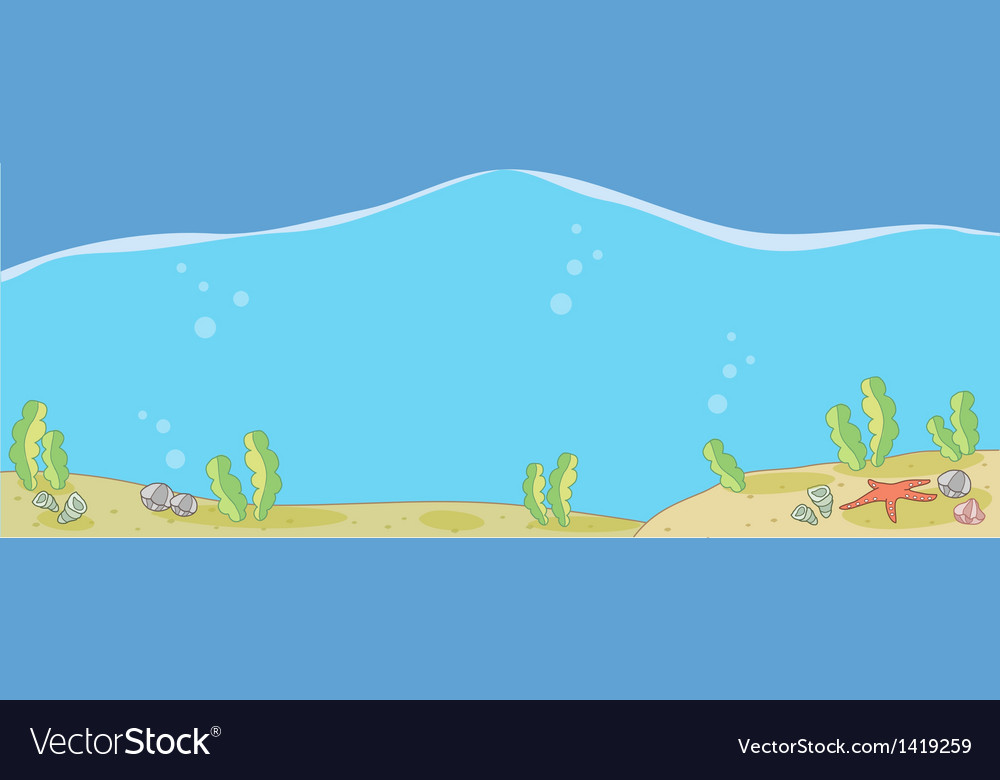 Underwater seascape vector | Price: 1 Credit (USD $1)