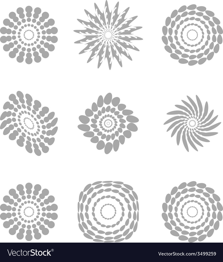 White abstract circles with drop shadow background vector | Price: 1 Credit (USD $1)