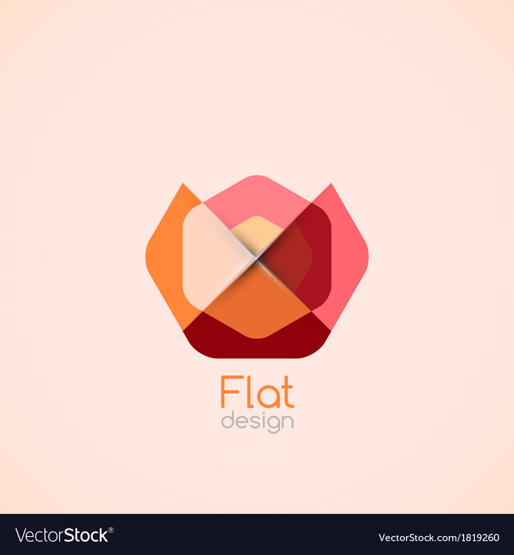 Abstract flat geometric shape background vector | Price: 1 Credit (USD $1)