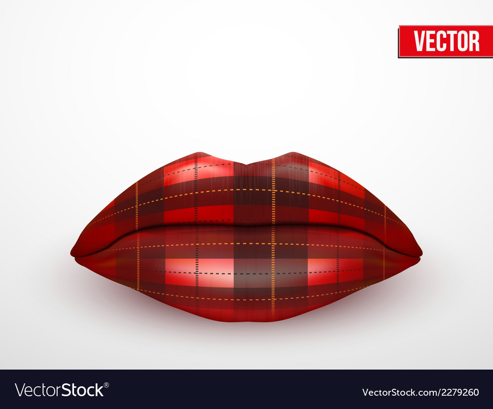 Beautiful luscious lips vintage texture vector | Price: 1 Credit (USD $1)